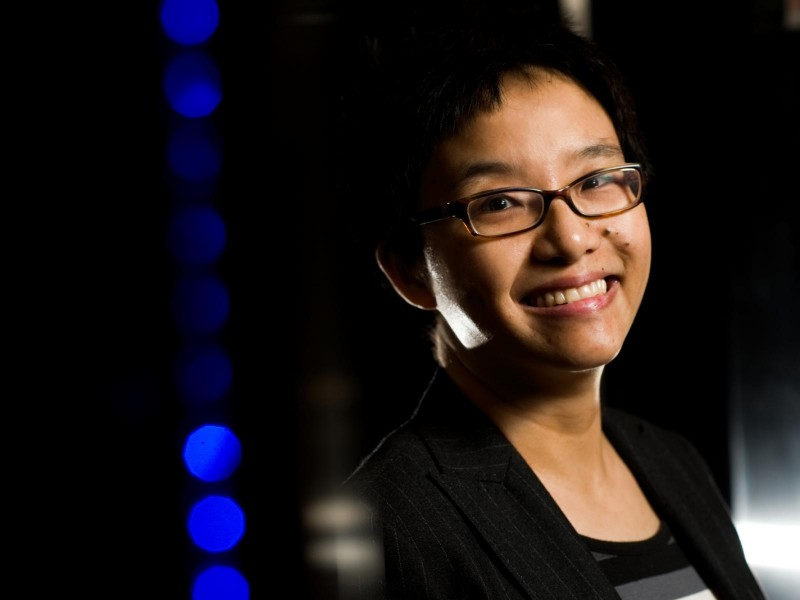 Hui Wan, an atmospheric scientist, currently leads a collaborative project bridging atmospheric physics and applied mathematics. Photo by Andrea Starr, PNNL.