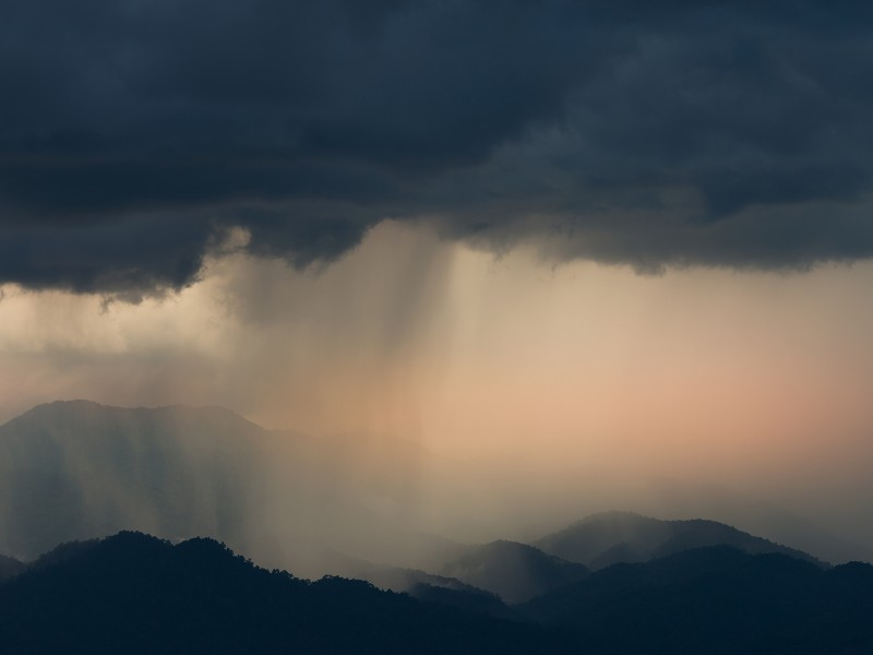 Monsoon rains fall in India. Image by Shutterstock.